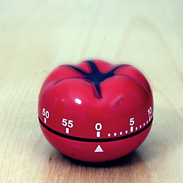 Un minuteur *pomodoro* (image sous licence CC-BY-SA 3.0).