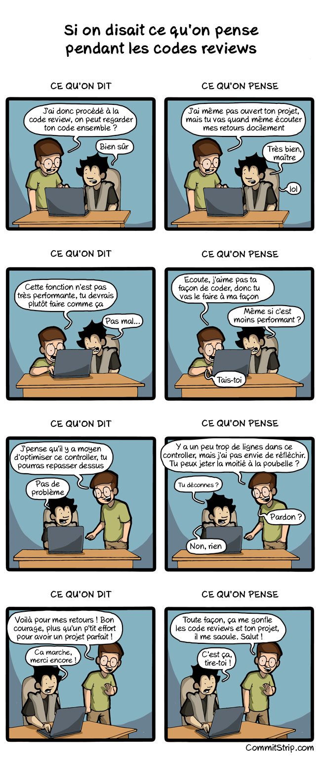 Commit Strip revue de code
